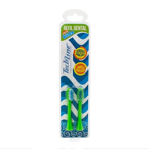 Refil para Escova Dental Infantil à Pilha Techline Kids Sapinho EDA-01 com 2 Unidades