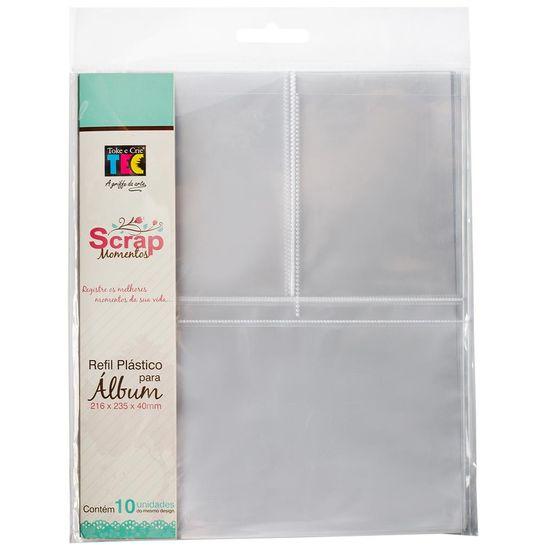 Refil Plástico para Álbum 16x22 com 3 Divisórias e 10 Unidades RSM002 - Toke e Crie