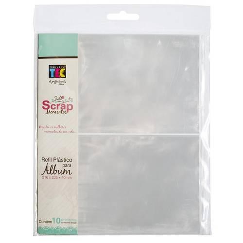 Refil Plástico para Álbum 16x22 com 2 Divisórias e 10 Unidades Rsm003 - Toke e Crie