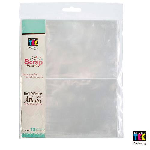 Refil Plástico para Álbum Scrap Momentos 21 X 23cm Toke e Crie - Design 02