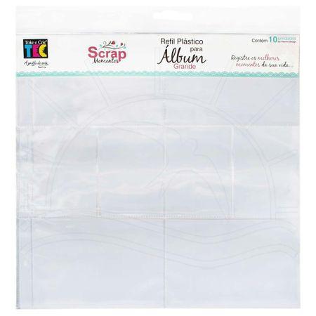Refil Plástico para Álbum Scrap Momentos Grande Toke e Crie - Design a