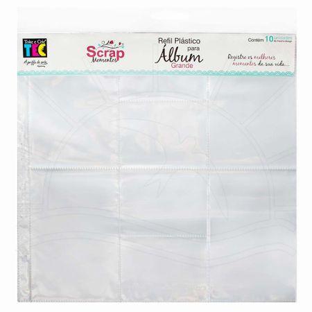 Refil Plástico para Álbum Scrap Momentos Grande Toke e Crie - Design D