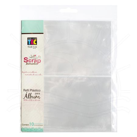 Refil Plástico para Álbum Scrap Momentos Pequeno Toke e Crie - Design 02
