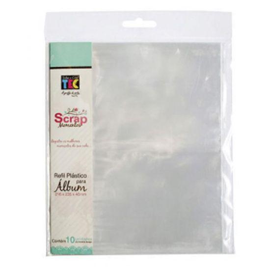 Refil Plástico para Álbum Toke e Crie RSM007 16x22cm com 1 Divisória e 10 Unidades