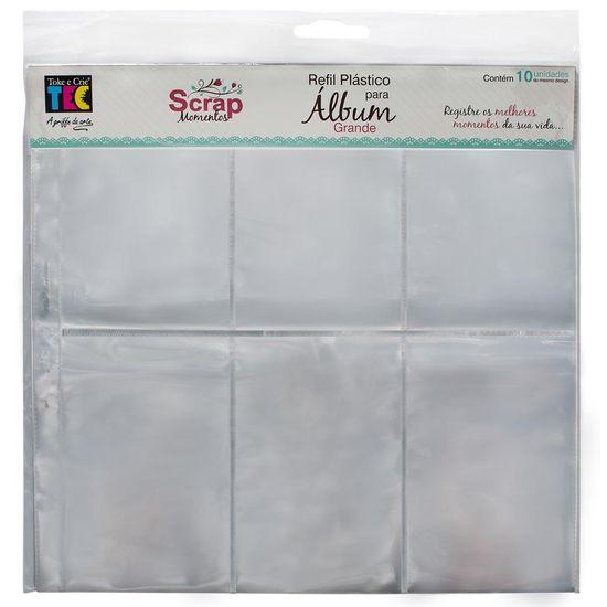 Refil Plástico para Álbum 32x32 com 6 Divisórias e 10 Unidades RSM005 - Toke e Crie