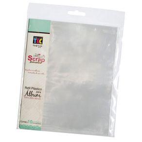 Refil Plástico para Scrapbook Pequeno Design 1 com 10 Unidades Ref.17908-RS007 Toke e Crie