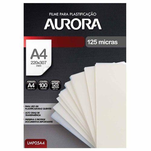 Refil Polaseal para Plastificação A4 100 Unidades Aurora 1025918