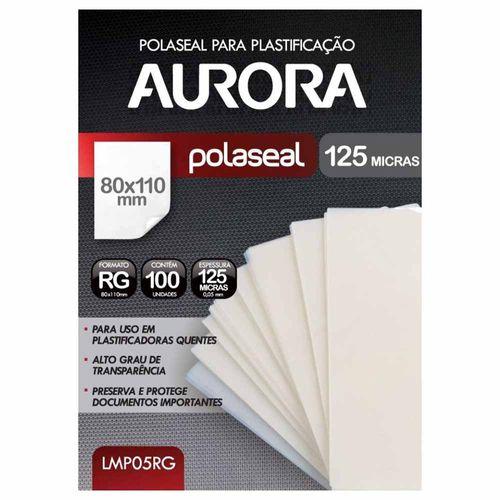 Refil Polaseal para Plastificação RG 100 Unidades Aurora 1012605