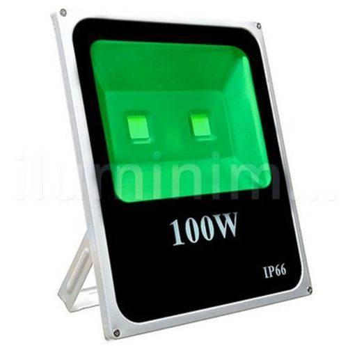 Refletor Holofote Led 100w Bivolt 180° Verde Prova D'água