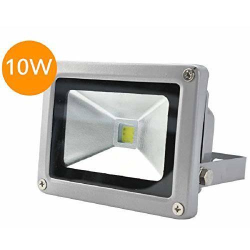 Refletor Holofote Led Bivolt Ip66 Branco Quente 3000k 10w