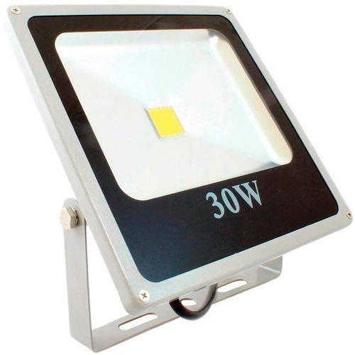 Refletor Holofote Led Branco Frio 30w Bivolt 6000k Ip