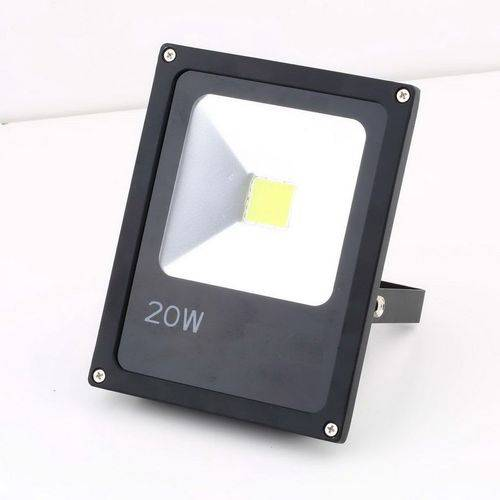 Refletor Holofote Led Branco Frio 20w Bivolt