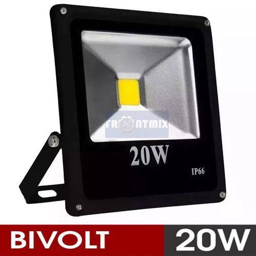 Refletor Holofote Led Branco Frio 20w IP66 Bivolt 6000k