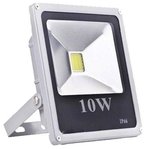 Refletor Led Holofote 10w Bivolt Prova D'água - Branco Frio