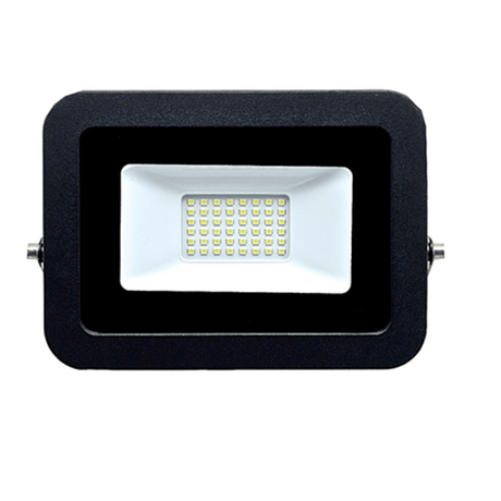 Refletor Holofote Ultraslim Microled 30w Branco Frio