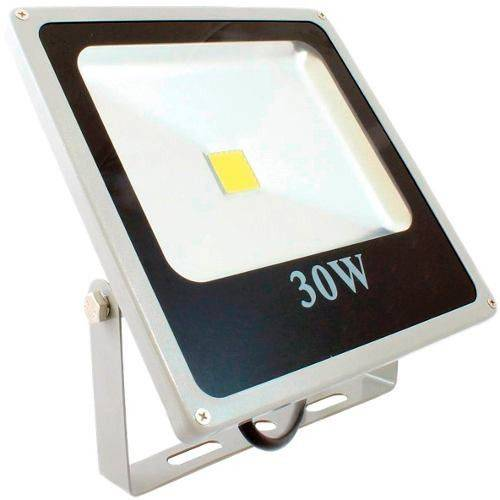Refletor Led 30w Bivolt Holofote a Prova D'água Branco Frio