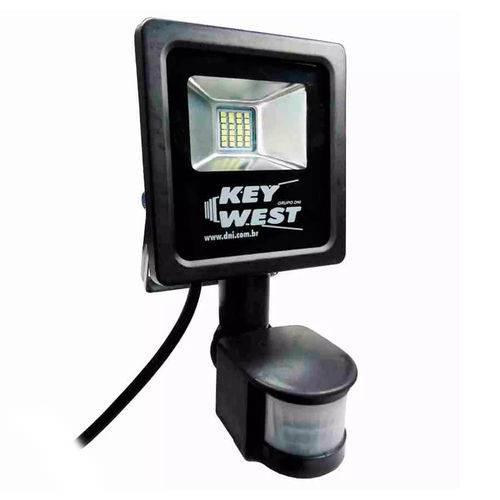 Refletor Led 10w 6000k com Sensor de Presença Bivolt Preto 6038 Dni