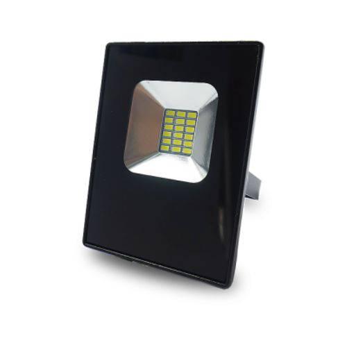 Refletor Led 10w Bivolt 6000k (luz Branca) Preto Luminatti