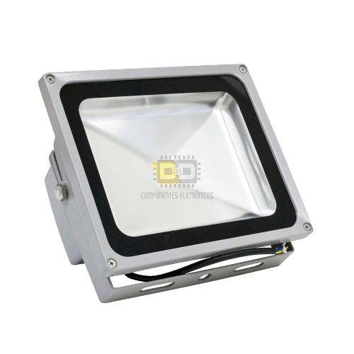 Refletor Led 50w Branco Frio 6000k Bivolt