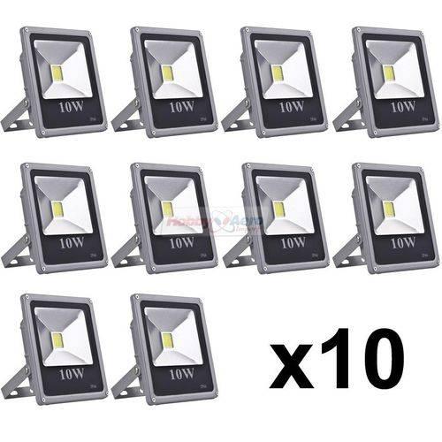 Refletor Led Holofote 10w Bivolt a Prova D'água Kit com 10