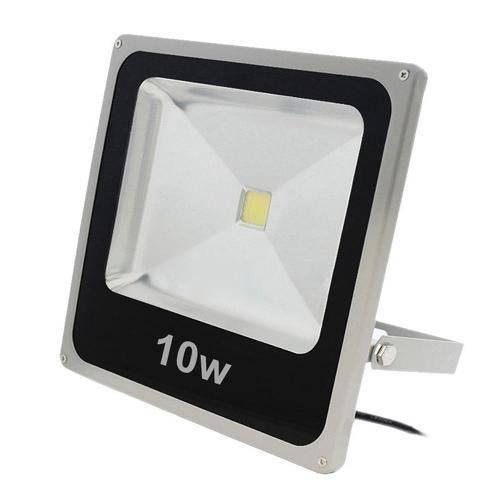 Refletor Led Holofote 10w Bivolt Prova Dágua - Branco Frio - Refletor Led Holofote 10w