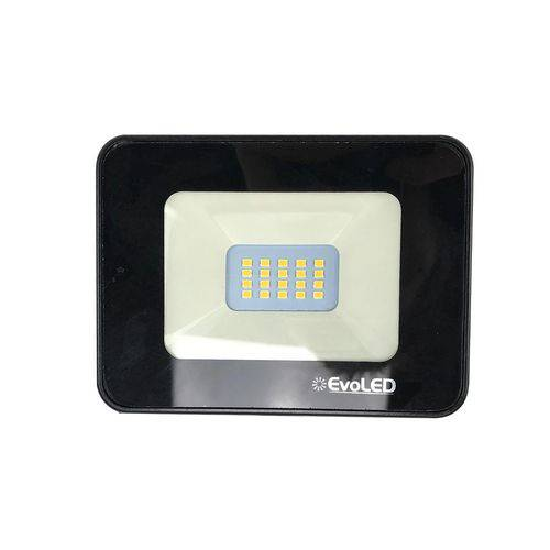 Refletor Led Preto 10w 100-240v 5700k