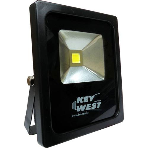 Refletor Slim Super LED Frio SMD Bivolt 10W Preto - Key West