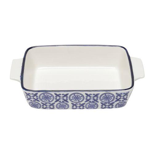 Refratário em Porcelana Lyor Royal 30x19x6cm Azul