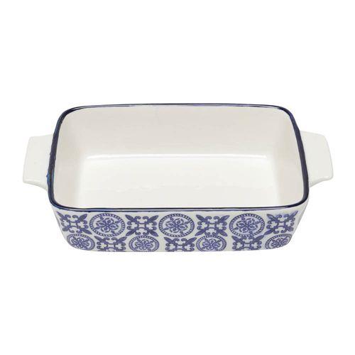Refratário em Porcelana Lyor Royal 24,5x15x5,5cm Azul