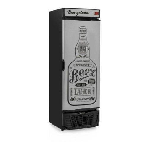 Refrigerador de Bebidas Cervejeira Gelopar 441l Grba-450 Gw Porta Cega Preto Adesivado