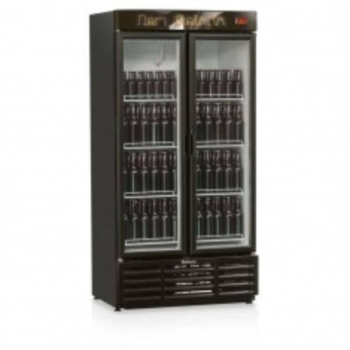 Refrigerador de Bebidas Cervejeira Gelopar 760L Grba-760PV Porta de Vidro Preto