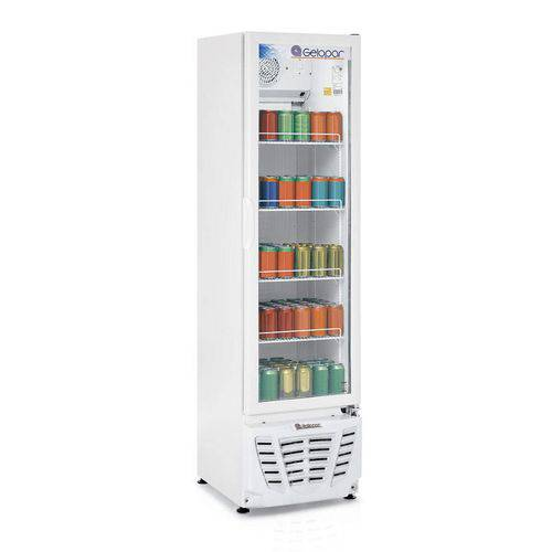 Refrigerador Expositor Vertical Frost Free 228L Profissional Gelopar 220V 180W Branco