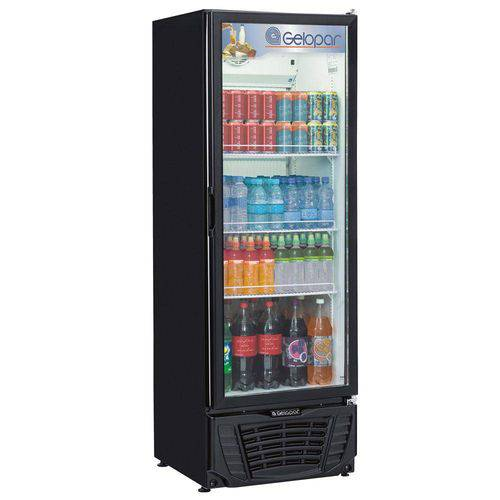 Refrigerador Frost Free Gelopar Gptu-40pr 414 Litros Expositor de Bebidas 127v, Preto
