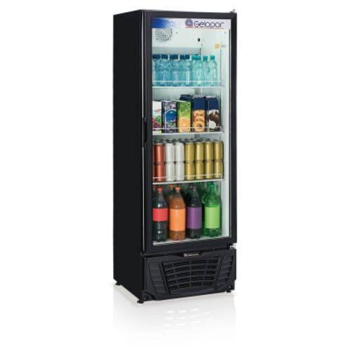 Refrigerador Vertical Gelopar Gptu-40pr 414l Turm. Preto