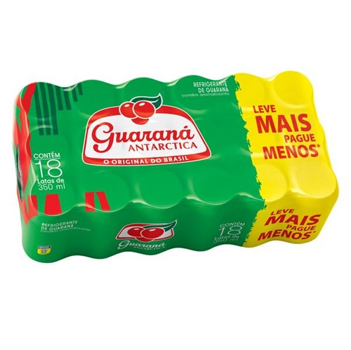 Refrigerante Antarctica 350ml Lt Guarana com 18