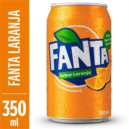 Refrigerante Fanta 350ml Lata Laranja