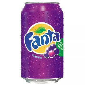 Refrigerante Fanta Uva Lata 350mL