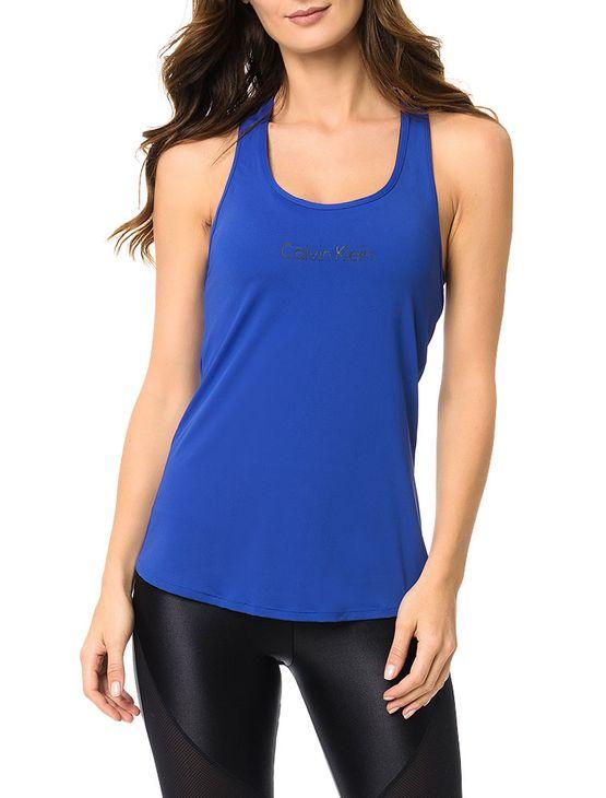 Regata Athletic Calvin Klein Swimwear Estampa Ck Azul Royal - P
