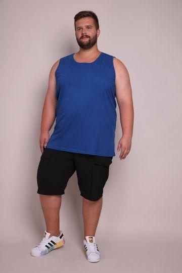 Regata Plus Size Machão Basica Azul M