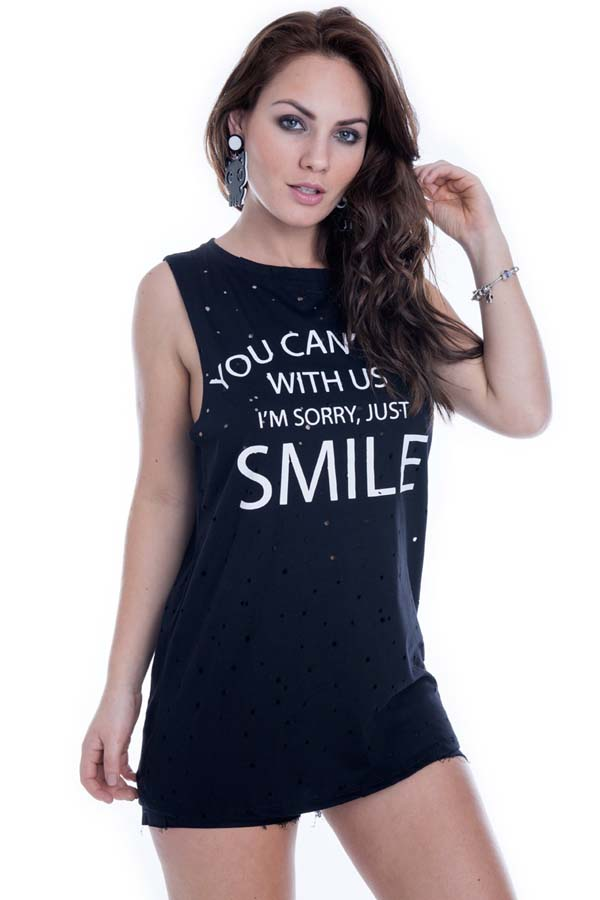 Regata Smile com Detalhe Vazado BL3270 - P