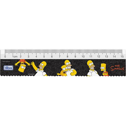 Régua 15cm Simpsons - Tilibra