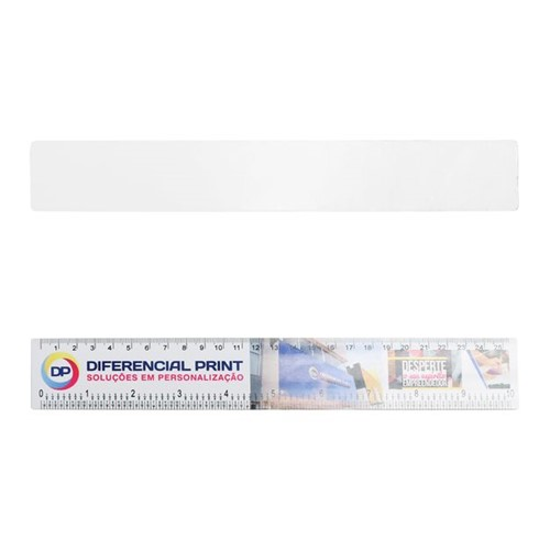 Régua de Metal Branca para Sublimação Regua para Sublimação 3,5x26cm