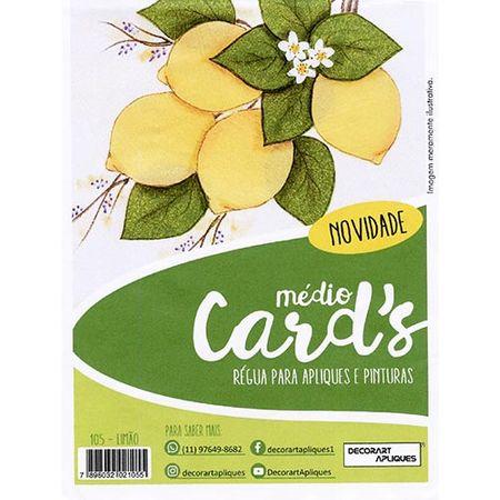 Régua Médio Cards Apliques e Pinturas - Limão