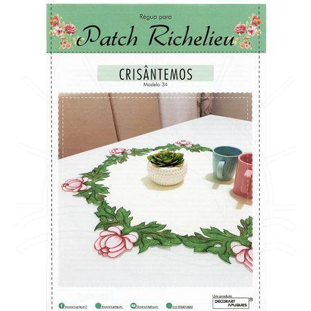 Régua para Patch Richelieu Márcia Caires Modelo 34 - Crisantemos