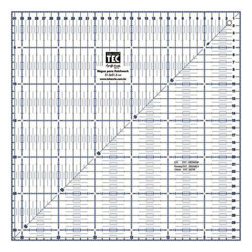 Régua para Patchwork 31.5x31.5 Cm 7134 Rp34213 - Toke e Crie