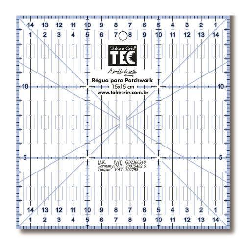 Régua para Patchwork 15x15cm 7135 Rp34115 - Toke e Crie