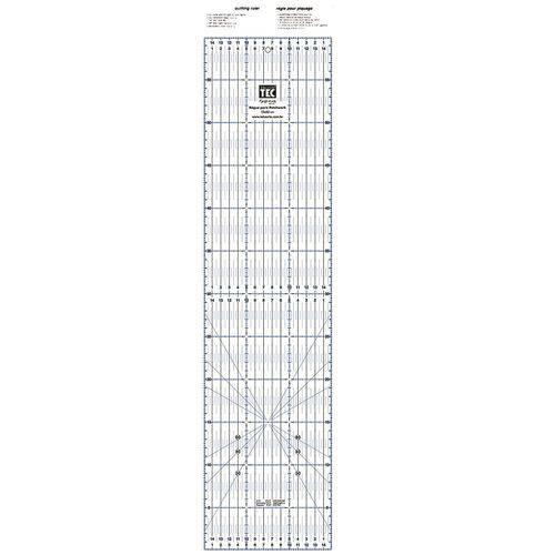 Regua para Patchwork 15x60cm Acrilica Toke e Crie