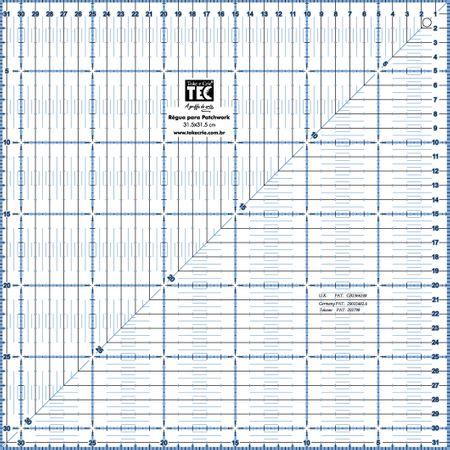 Régua para Patchwork Toke e Crie - 31,5x31,5cm