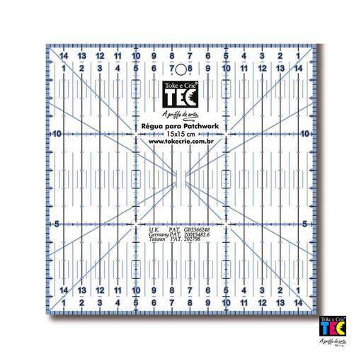 Régua para Patchwork Toke e Crie 15 X 15 Cm - 7135 - Rp34115