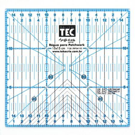Régua para Patchwork Toke e Crie - 15x15cm